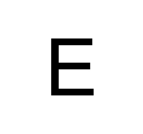 Husnummer Folie E