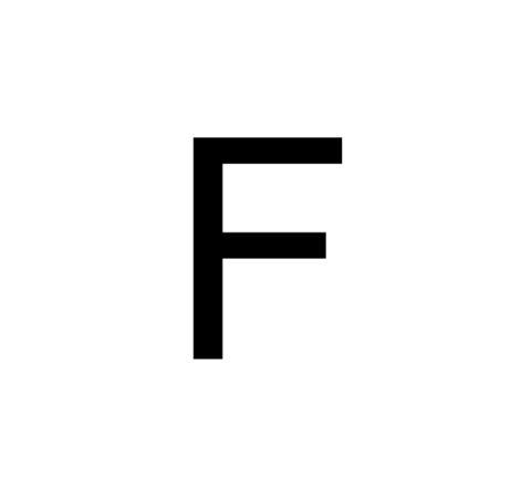 Husnummer Folie F