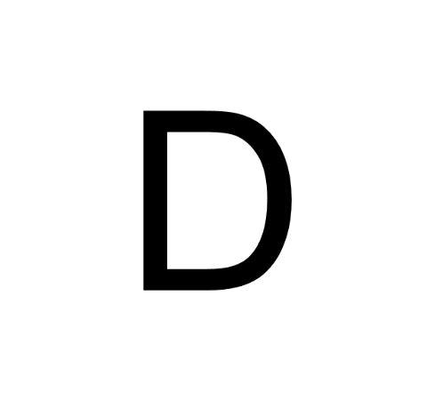 Husnummer Folie D