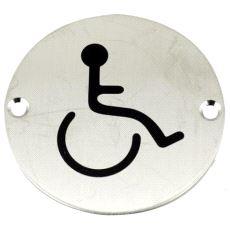 GS012 Toalettskilt Handicap Rustfritt stål