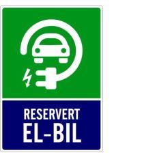 92243 Skilt Reservert el-bil 300x400